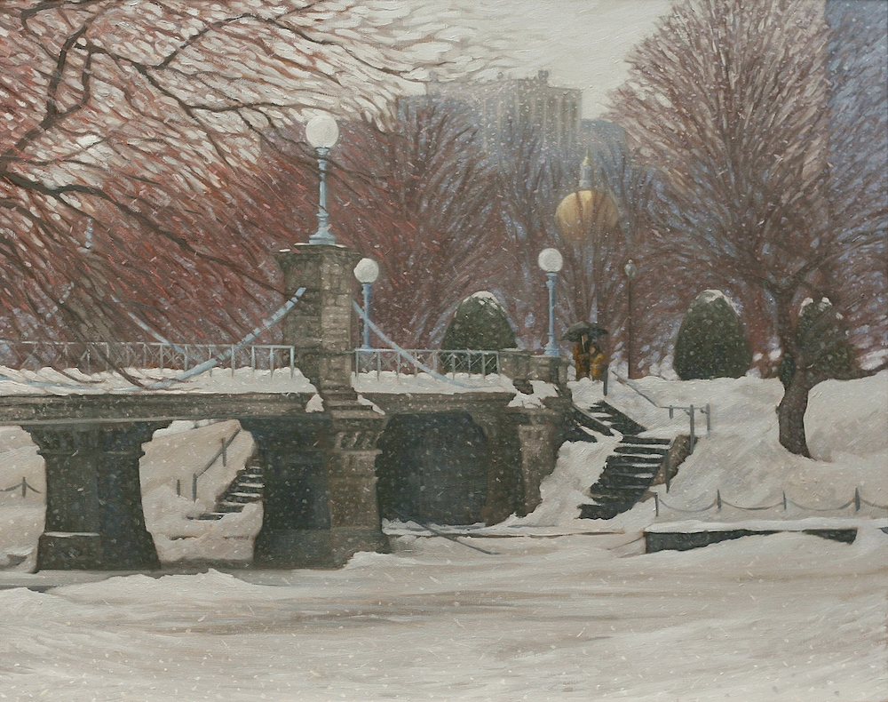 Winter Stroll Boston Public Garden by Ryan Black