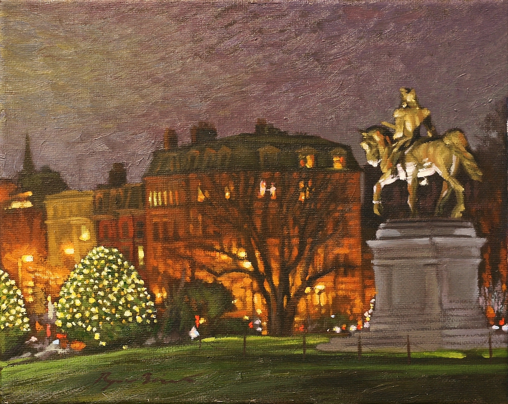 George Washington and the Harbridge House oil on canvas by Ryan Black