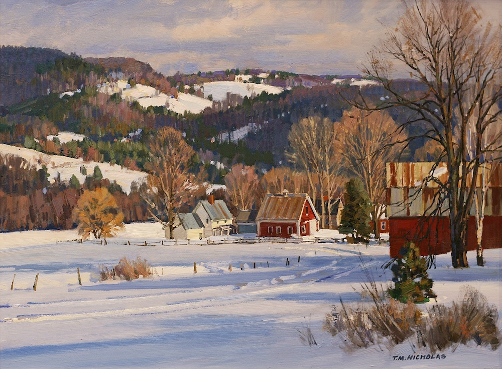 Breaking Light, VT Oil on canvas by T.M. Nicholas