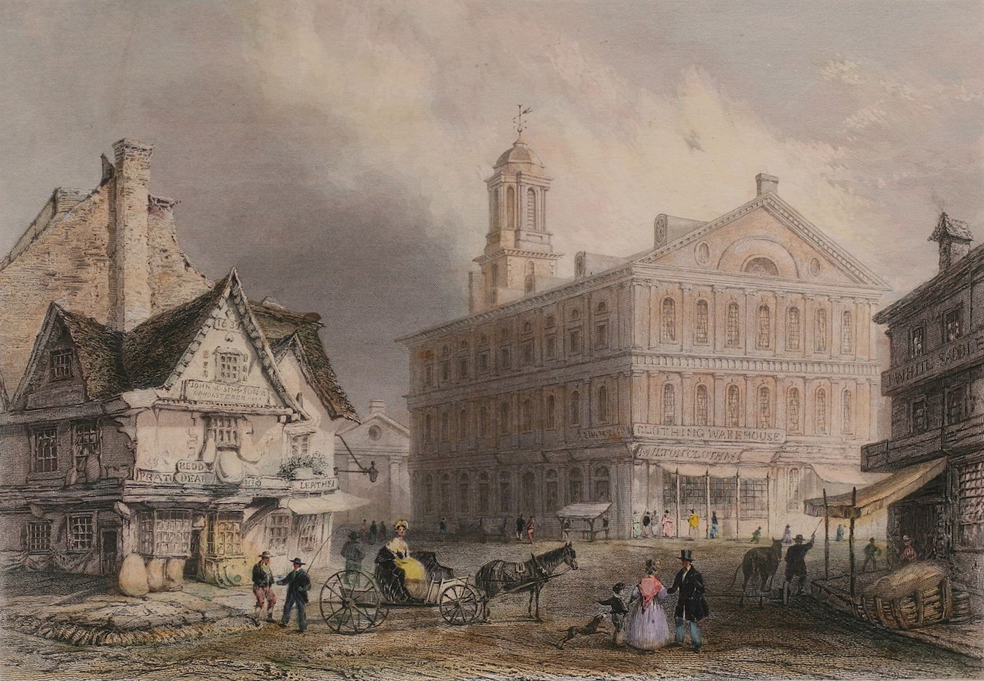 Faneuil Hall, Boston, by William H. Bartlett | Page Waterman Fine ...