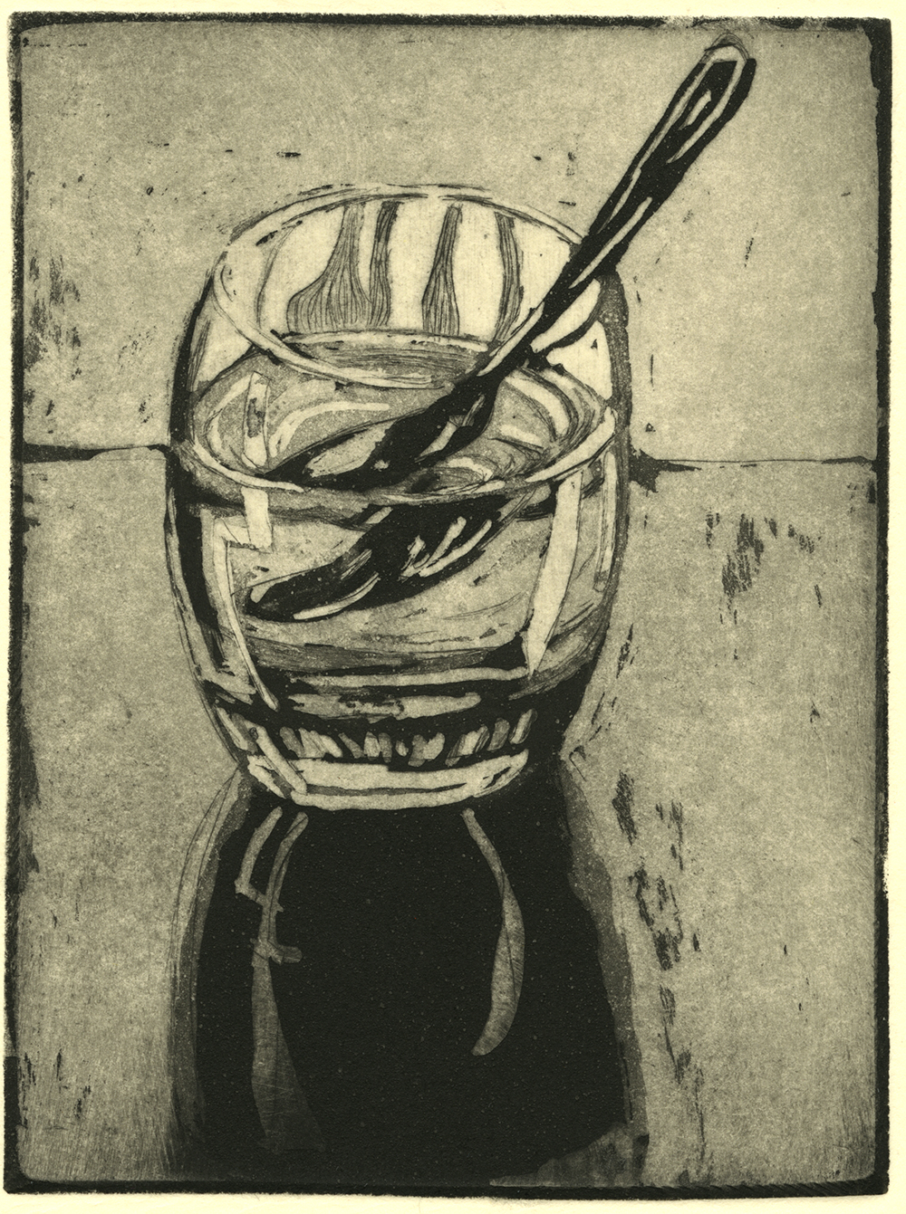 Water Glass with Spoon