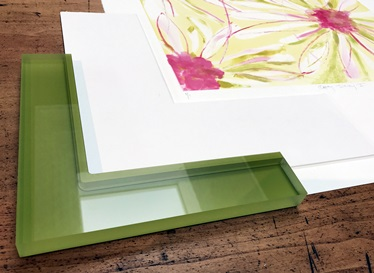 colorful acrylic frames at Page Waterman Fine Framing, Wellesley, MA