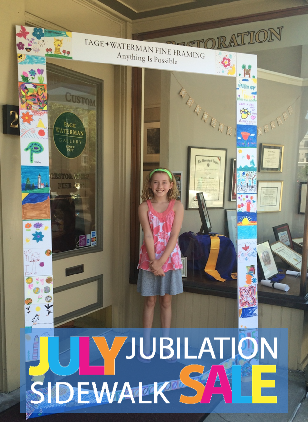 July Jubilation festivities at Page Waterman Fine Framing in Church Square