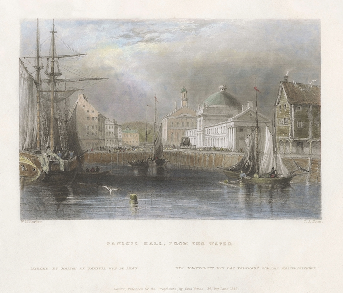 Faneuil Hall 1, Boston, by William H. Bartlett | Page Waterman ...