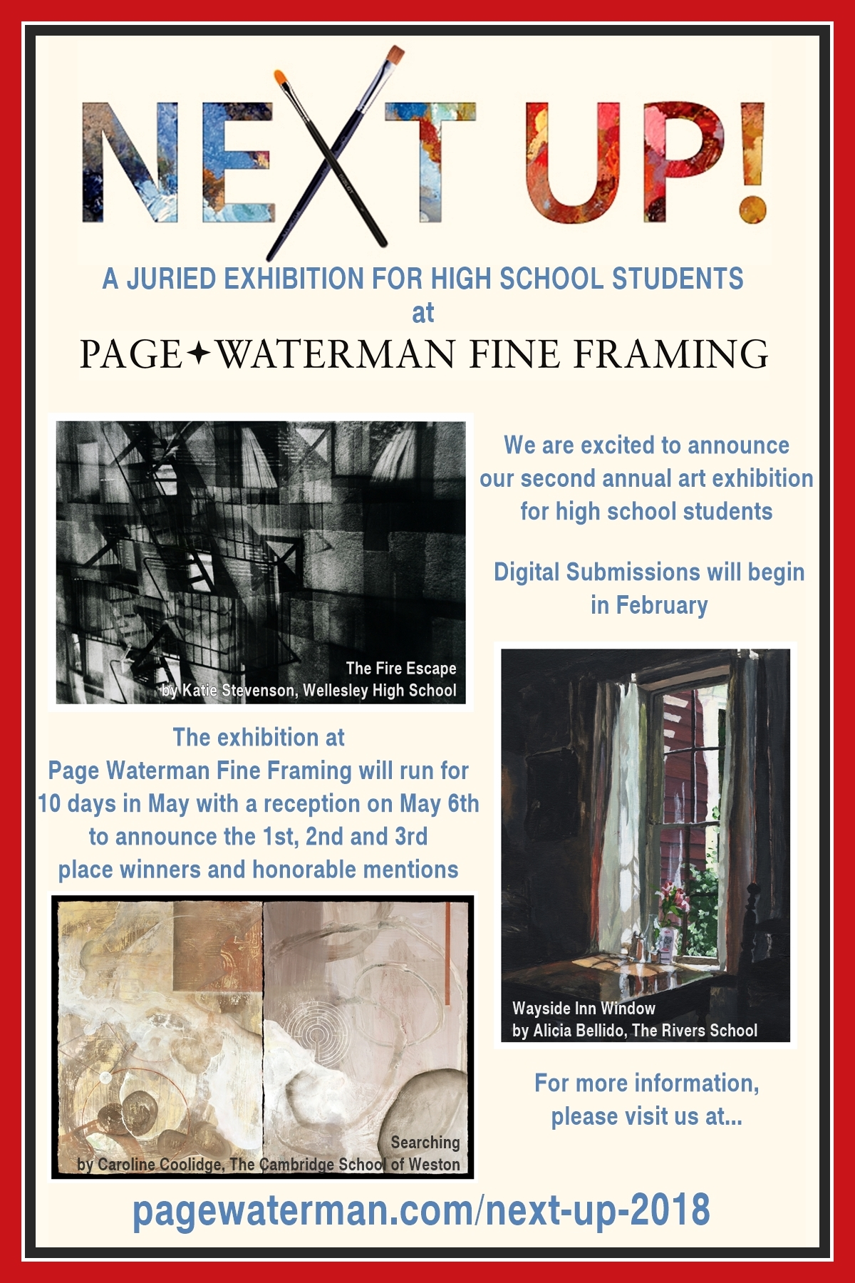 Next Up 2018 | Page Waterman, Gallery & Framing