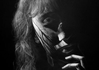 """Chiaroscuro Self Portrait<br><span style=""""color: #ff5c00; font-weight: 600;"""">HONORABLE MENTION</span>"""