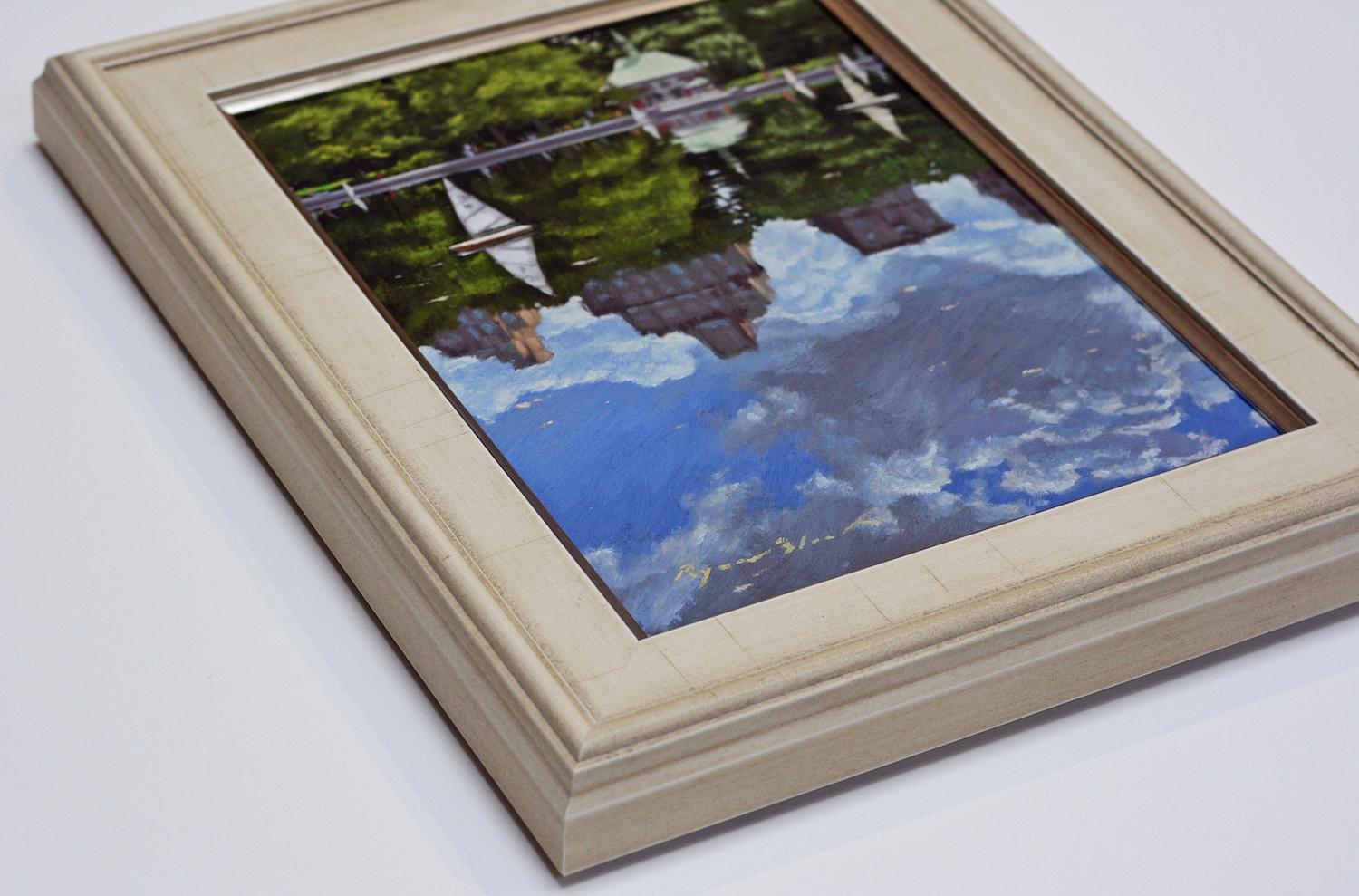 Creative custom framing options at Page Waterman Fine Framing in Wellesley Square.