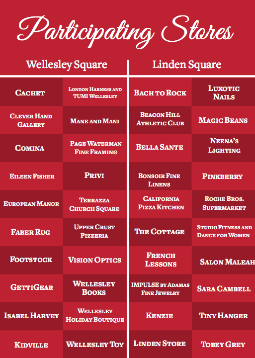 shopping spree in squares in wellesley square and linden square