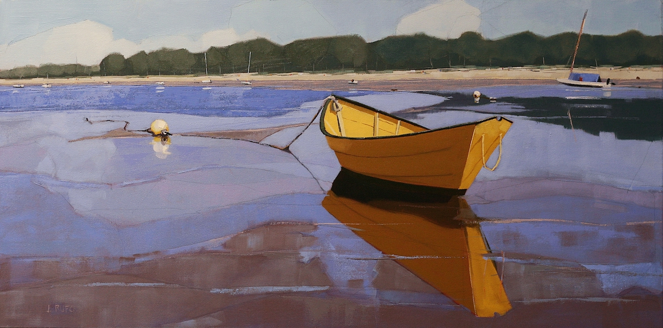 Dorey at Low Tide oil on canvas by John Rufo