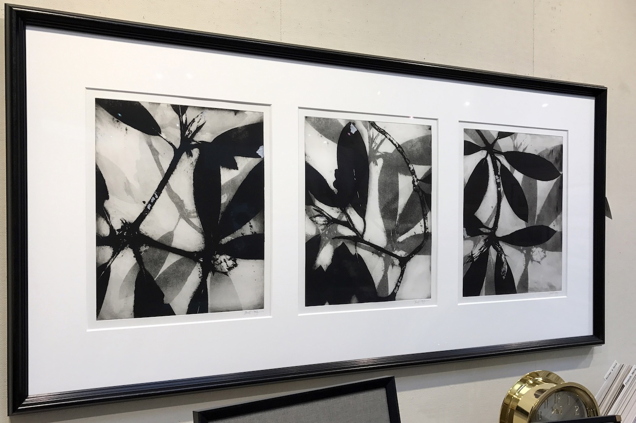 Anthology III, IV and V by Jane Cooper, Monotype, 35 x 71, $5000