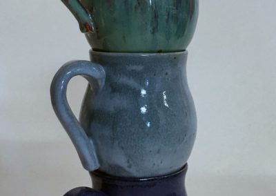Set of 3 Blue Toned Mugs