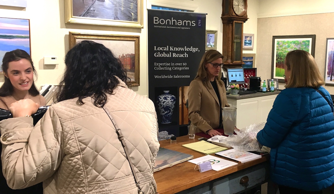 Bonhams appraisal event at Page Waterman Fine Framing in Wellesley Square