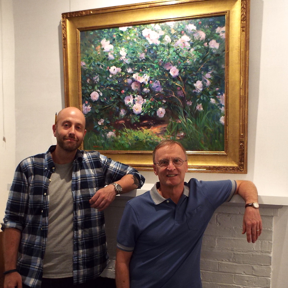 Ryan Black, manager, and Sturdy Waterman, owner of Page Waterman, Gallery and Framing