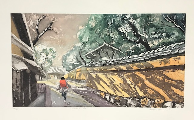 Contemporary Japanese Print Show at Page Waterman Gallery, Wellesley, MA featuring Sarah Brayer