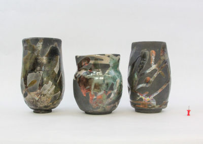 "<span style=""color: #ff5c00; font-weight: 600;"">HONORABLE MENTION</span><br>Raku Series, Abigail Buckham"